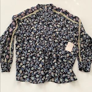 Free People || Floral Blouse